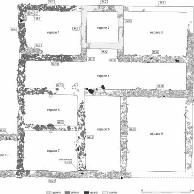 Gouarec, Plan de la villa de Saint-Gilles
